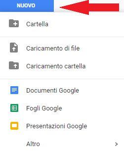 Menù Google Drive